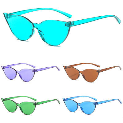 Women Sunglasses Cat Eye Without Frame Trendy Girl Sun Glasses Cute Candy - Girl Glasses