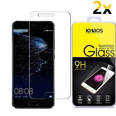 [2-Pack] KHAOS [Tempered Glass] Screen Protector For Huawei P10 Plus 2017](huawei p10 plus screen protector)
