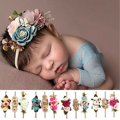 Cute Baby Girls Toddler Kids Flower Hair Band Headband Headwear