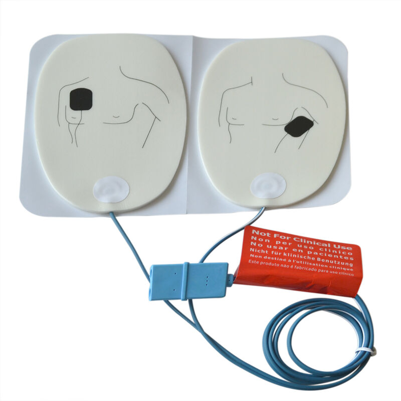 1pair Electrode Replacement Adult AED Training Pads For Defibrillate AED Trainer