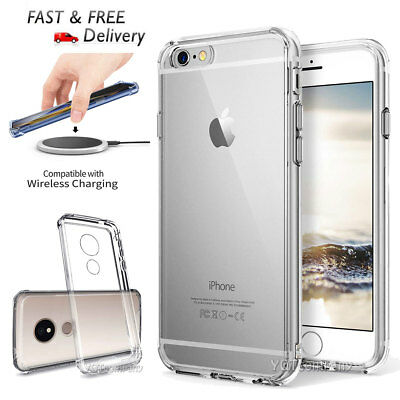 Clear Soft Shockproof Silicone Gel Rubber TPU Back Cell Phone Case Cover Skin