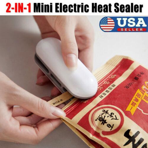 Portable Mini Electric Heat Sealer Sealing Machine Household Plastic Bag Cutter
