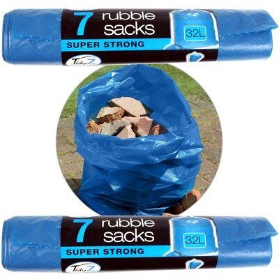14 x SUPER STRONG RUBBLE SACKS Household DIY Garden Waste Bin Bags 66cm x 112cm