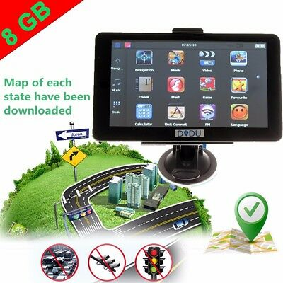 7 inch Truck Car GPS Navigation Sat Nav Navigator Touch-screen 8GB + Free Map US
