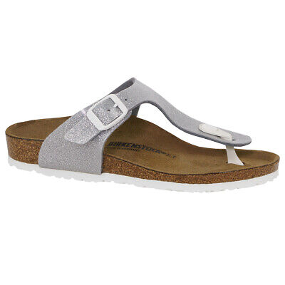 Birkenstock Kids' Gizeh Birko-Flor Sandals Magic Galaxy Silver 32 N