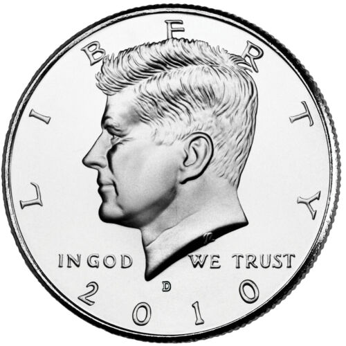 2010 P&D JOHN F. KENNEDY HALF DOLLAR /(2 Coin Set UNCIRCULATED) FROM MINT ROLLS
