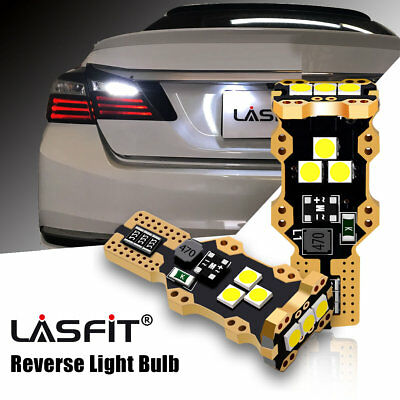 LASFIT T15 LED Reverse Backup Light for Toyota Honda Lexus 6000K White 921 912