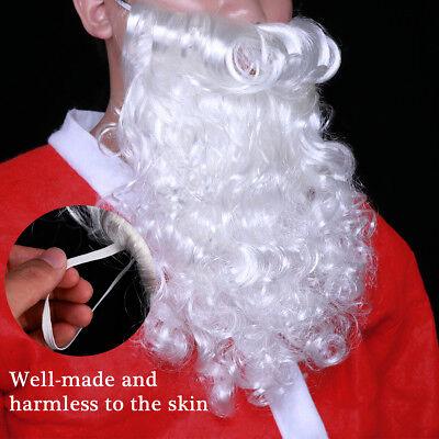 Perücke Bart Nikolaus Luxus Fasching Kostüm Weihnachten Weihnachtsmann - Mann Kostüm Perücke