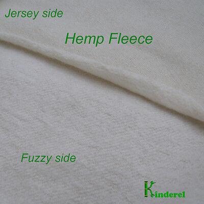 Certified Organic HEMP/Organic Cotton Fleece Fabric, by the yard, ship from USA Cotton Fleece Fabric