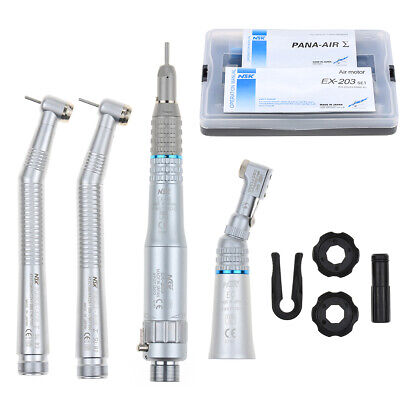 Dental Nsk Handpieces Kit 2 High 1 Low Speed Push Button B2 2 Hole Us Stock