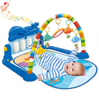 5in1 Baby Kid Gym Floor Play Mat Musical Activity Center Kick &Play Piano Toy US