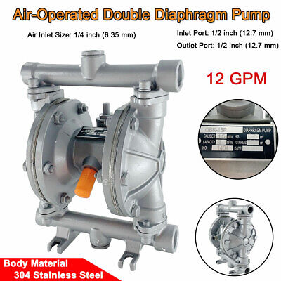 12 Inletoutlet Stainlesssteel Air-operated Double Diaphragm Pump 12gpm 115psi