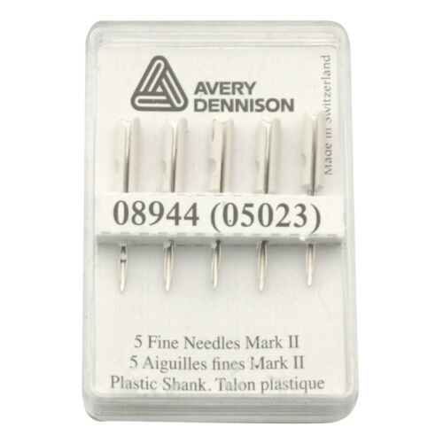 Avery Dennison Fine-Fabric Replacment Needles 08944 Tagging Tool - Pack of 5