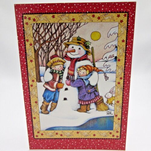 Mary Engelbreit 18 Christmas Cards 20 Envelopes Snowman Children Happy Winter II