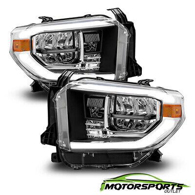 [LED Strip]For 2014-2018 Toyota Tundra Black TRD Truck Headlights 15 16 17 18