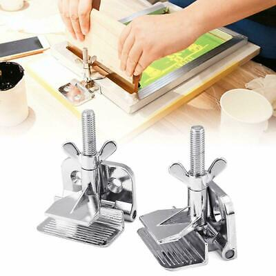 Hot Sale Diy Tool Supply 2pcs Silk Screen Printing Butterfly Frame Hinge Clamp