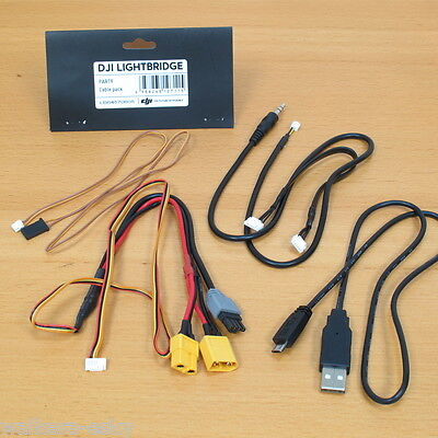 Dji Lightbridge Part Ltbg 9 Accessory Pack  Av Cable  Can Bus Power Cable