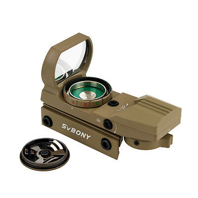 Green Red Dot Sight 4 Reticle Tactical Reflex Sight 5 Level Brightness Us Ship