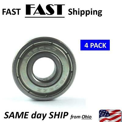 4 Pack --- Small Bearing In-line Skate Roller Blade Hockey Bearings 608zz Abec-7