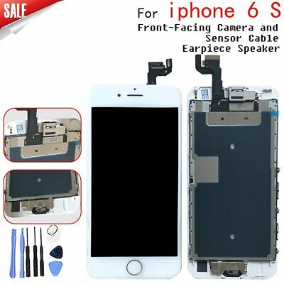Replacement Touch LCD Screen for White iPhone 6s Front Camera and Home Button