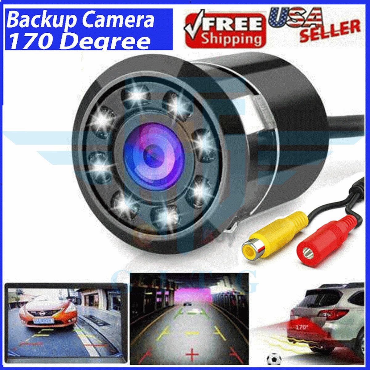 Car Rear View Backup Reverse Camera 170° CMOS 8 LED HD Night Vision Waterproof Car Video