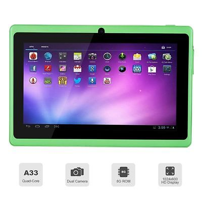 """7"""" inch Android 4.4 Quad Core Tablet PC MID 8GB Dual Camera Wifi Bluetooth Green"""