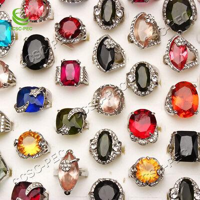 Wholesale Rhinestone Jewelry (Wholesale Jewelry Lots 20pcs Crystal Rhinestone Silver Plated Rings)