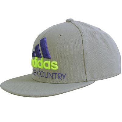 adidas Flat Cap XC Cross Country Kappe Mütze Flatcap Herren Jungen grau