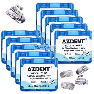 Dental Orthodontic Buccal Tube Roth.022 018 Non-convertible Bondable 1st Molar