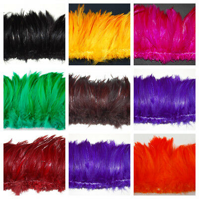 HACKLE FRINGE Feathers in Many Colors 3-6