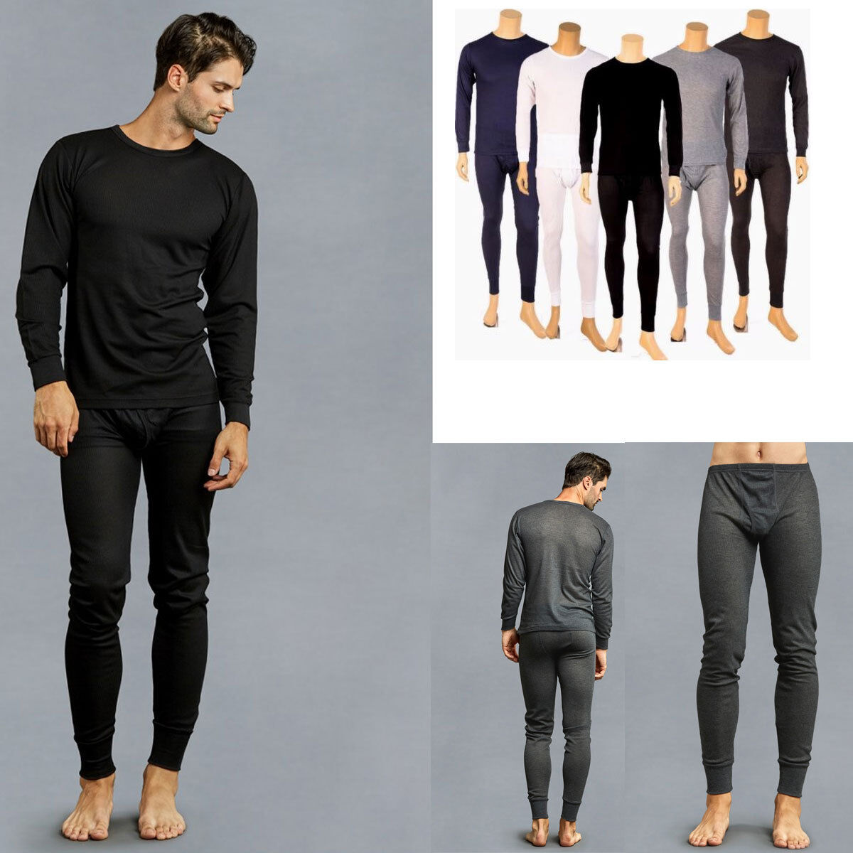Купить Knocker - Knocker Mens Lot 2PC Thermal Underwear Set Top Bottom Long John Waffle New Pants