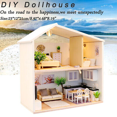 Doll House Miniature DIY Kit Dolls Toy House W/ Furniture Handcraft Gift USA for sale  Altadena