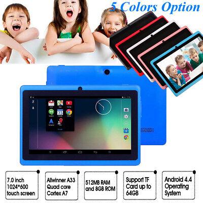 7 Zoll Google Wifi Tablet PC Android 4.4 HD Quad Core 8 GB Dual Kamera Kinder