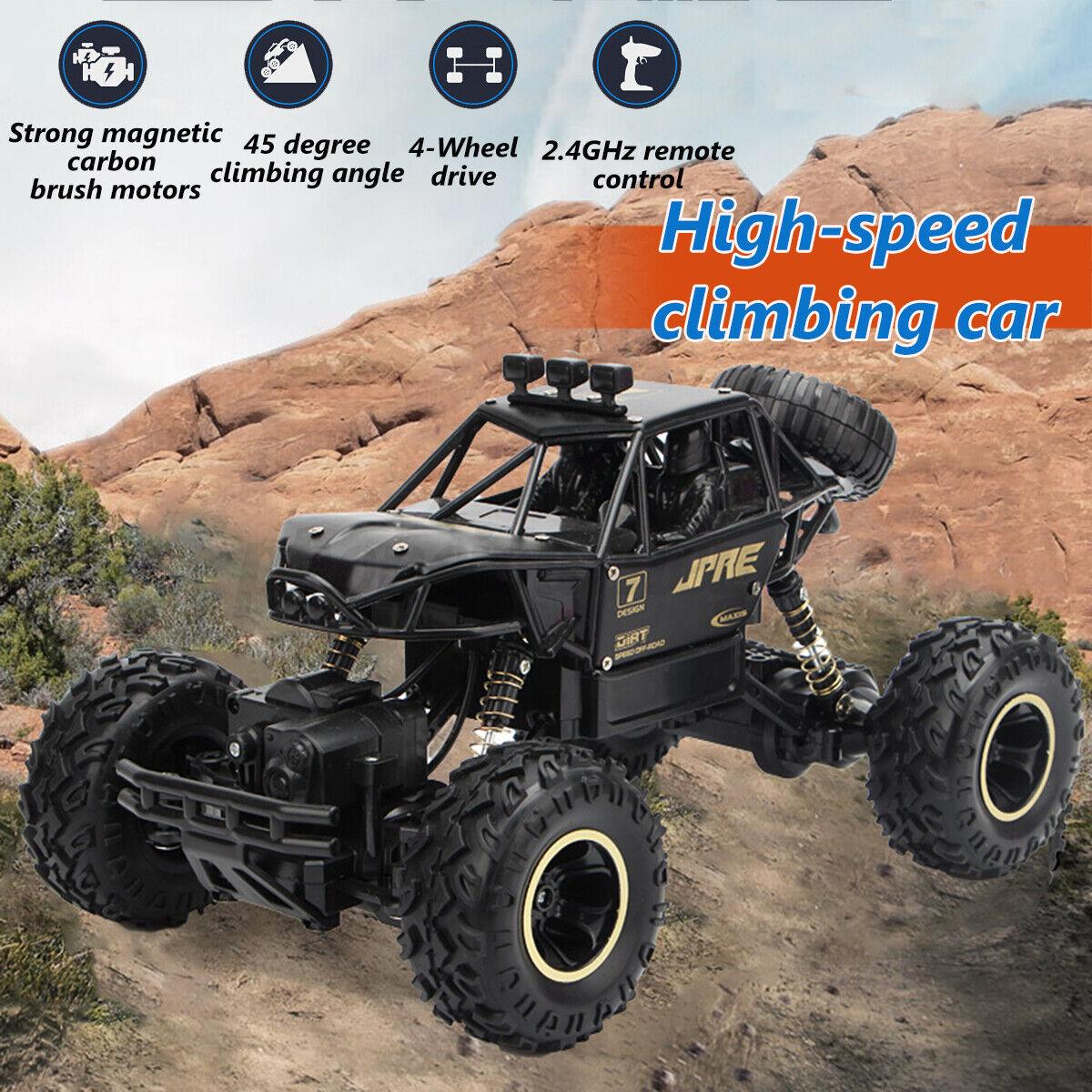 4WD RC Monster Truck Mit Akku Ferngesteuertes Auto Geländewagen Buggy Off-Road