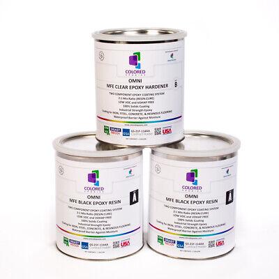 Black Epoxy Resin 100 Solids For Garage Floorplywoodconcrete. 3 Gallon Kit