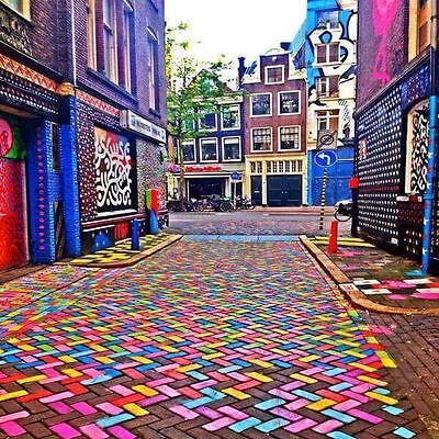 Art Accent Ceramic Tile Nature Mural 6x6 Coaster Colorful Street Buildings Accent Ceramic Tile Mural Art