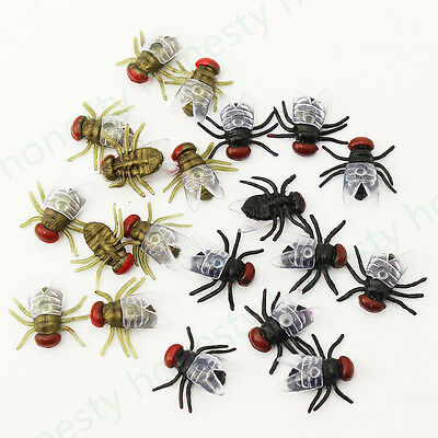 12~50Pcs House Fly Trick Plastic Insect Bugs Kids Toy Halloween Party Bag Filler](Halloween Party Bag Fillers)