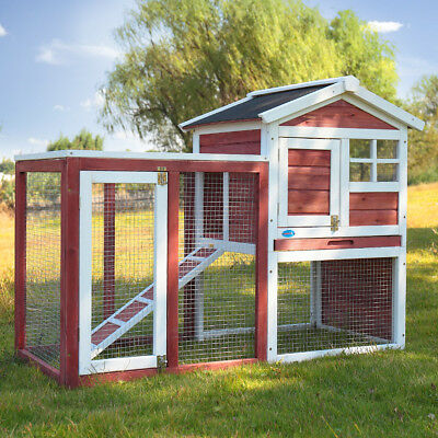 "48"" Chicken Coop Rabbit Hutch Large Hen House Wooden Animal Pet Cage with Run"