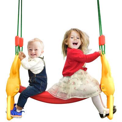 Back to Back Rider Swing For 2 Kids Glider Seat Children Backyard w/ Hangers - Kids Glider Swing