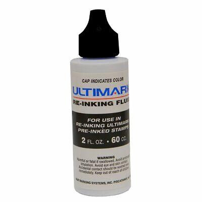 Ultimark Pre-inked Stamp Refill Ink, Black, 2 Oz Drip Spout Bottle ()