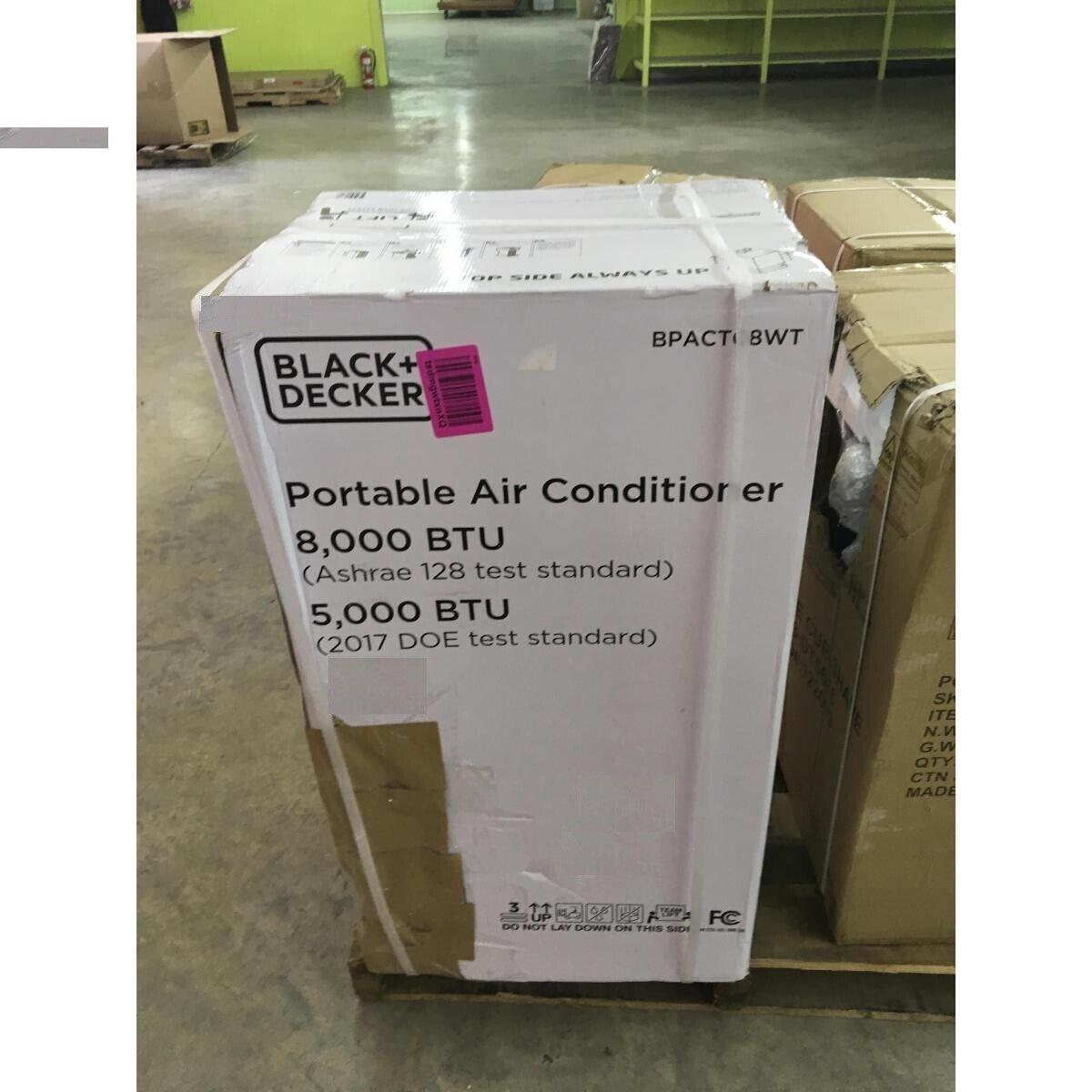 black decker bpact08wt portable air conditioner ac