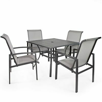 Garden Furniture - 5-Piece Outdoor Patio Set Table and Chairs Dining 4 Chairs Set Garden Furniture