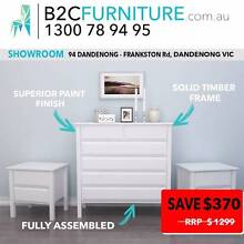 3PC White Chest of Drawer Suite fully assembled tallboy & bedside Dandenong South Greater Dandenong Preview