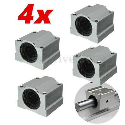 4pcsset Sc20uu 20mm Aluminum Linear Motion Ball Bearing Slide Bushing For Cnc