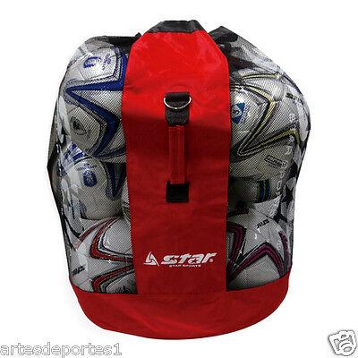 New Star Mesh Sack Sports Ball Net Bag Football Soccer Volleyball Up To 15 Balls