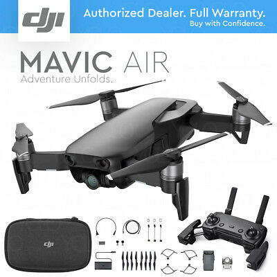 DJI MAVIC AIR Foldable & Portable Drone w/ 4K Stabilized Camera - ONYX BLACK