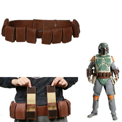New Boba Fett Belt Star Wars Cosplay Costume Props Pockets Party Adult Gun Bag