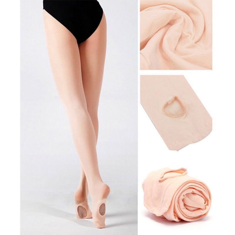 Children Adult Seamless Convertible Tights Dance Stockings Ballet Pantyhose