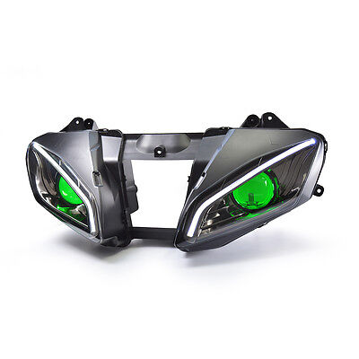 KT LED Headlight Assembly for Yamaha YZF R6 2006 2007 Green