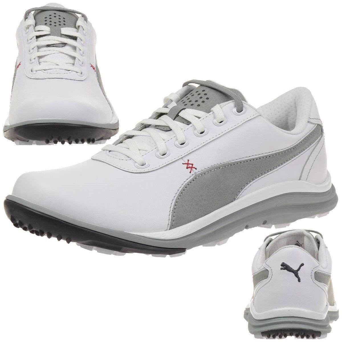 Puma BioDrive Leather Herren Golfschuhe Golf 188337 02 white